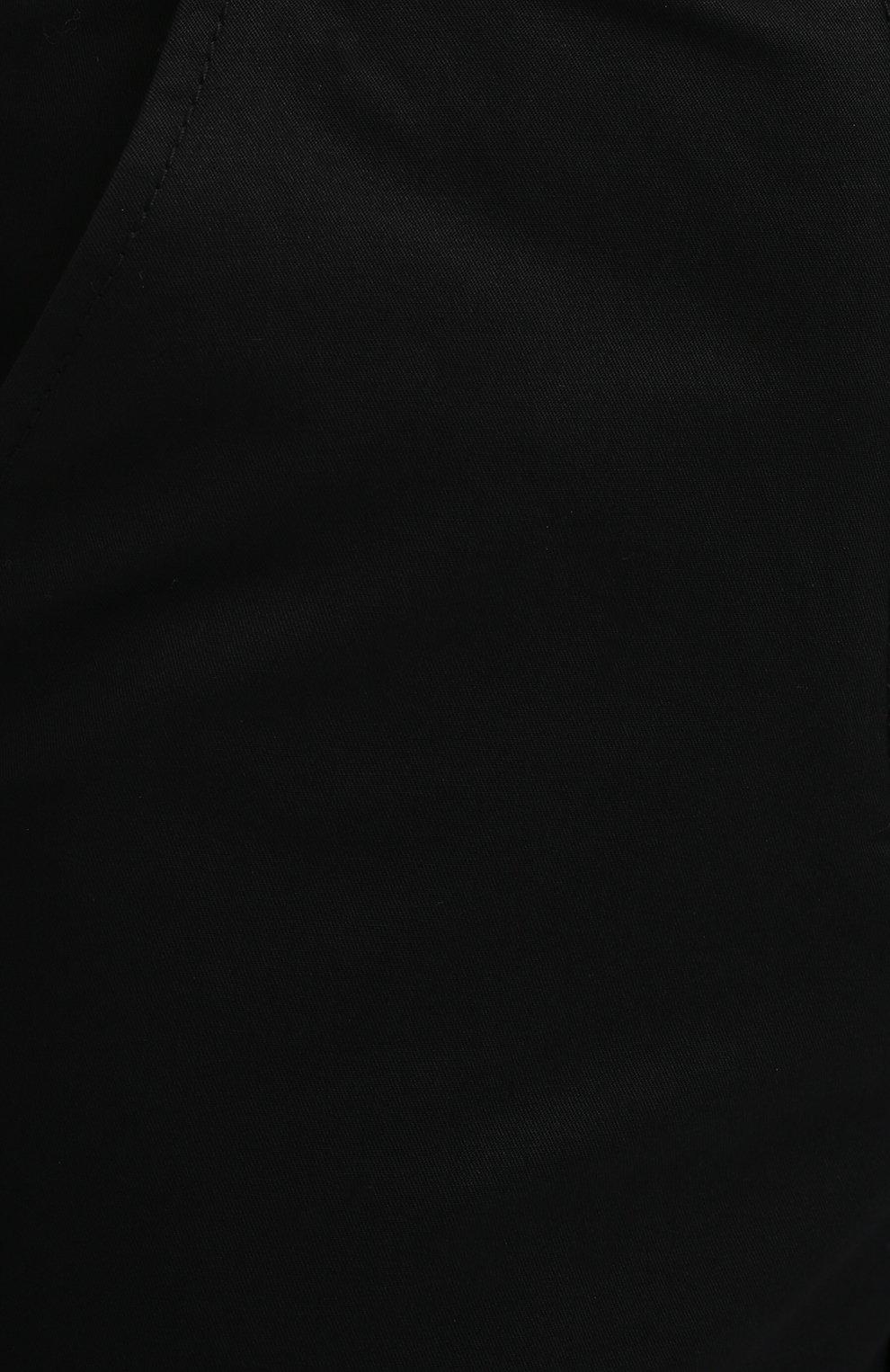 Женские хлопковые брюки PROENZA SCHOULER WHITE LABEL черного цвета, арт. WL2036042-AC110   Фото 5