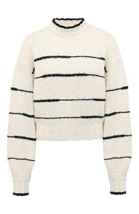 Женский хлопковый свитер PROENZA SCHOULER WHITE LABEL кремвого цвета, арт. WL2037447-KC080 | Фото 1