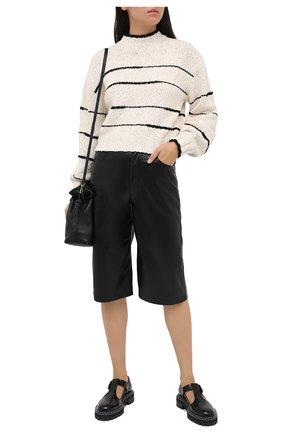 Женский хлопковый свитер PROENZA SCHOULER WHITE LABEL кремвого цвета, арт. WL2037447-KC080 | Фото 2