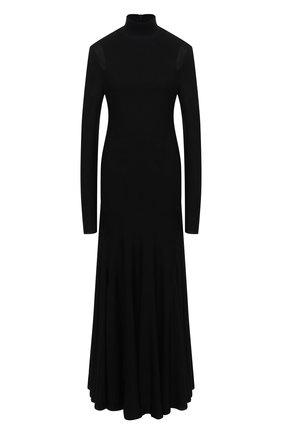 Женское платье из вискозы BOTTEGA VENETA черного цвета, арт. 640079/VKI60 | Фото 1