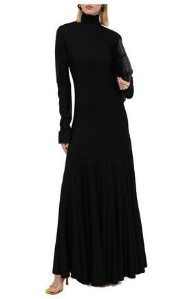Женское платье из вискозы BOTTEGA VENETA черного цвета, арт. 640079/VKI60 | Фото 2