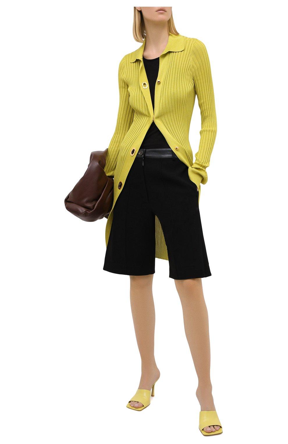 Женский кардиган из хлопка и шелка BOTTEGA VENETA зеленого цвета, арт. 637824/V06P0 | Фото 2