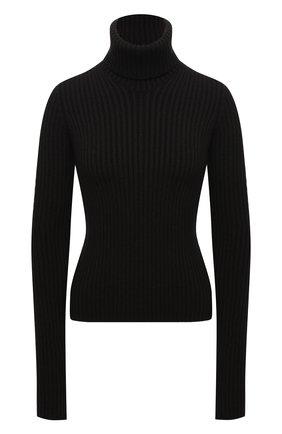 Женский шерстяной свитер BOTTEGA VENETA темно-коричневого цвета, арт. 641065/V08G0 | Фото 1 (Материал внешний: Шерсть; Длина (для топов): Стандартные; Рукава: Длинные; Женское Кросс-КТ: Свитер-одежда)
