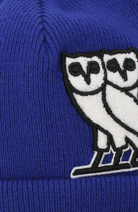 Мужская шерстяная шапка d2 x ovo DSQUARED2 синего цвета, арт. KNM0001 01W03698   Фото 3