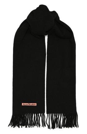 Мужской шерстяной шарф ACNE STUDIOS черного цвета, арт. CA0086/M | Фото 1