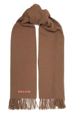 Мужской шерстяной шарф ACNE STUDIOS бежевого цвета, арт. CA0086/M | Фото 1