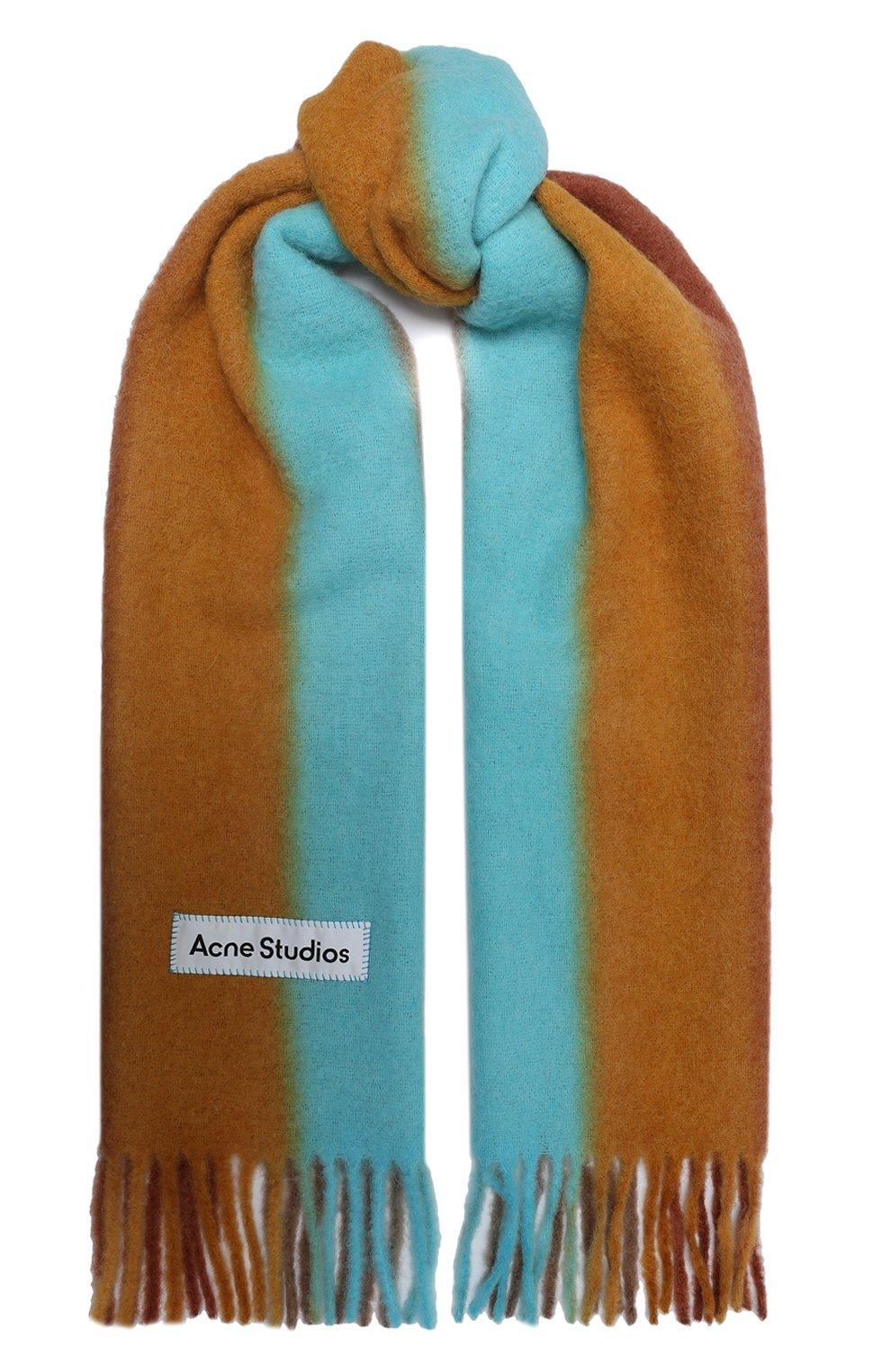 Мужской шарф ACNE STUDIOS разноцветного цвета, арт. CA0106/M | Фото 1