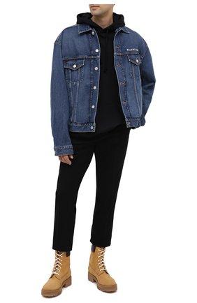 Мужская джинсовая куртка BALENCIAGA синего цвета, арт. 620728/TDW14 | Фото 2