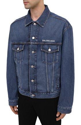 Мужская джинсовая куртка BALENCIAGA синего цвета, арт. 620728/TDW14 | Фото 3