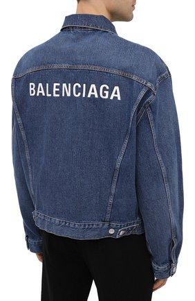 Мужская джинсовая куртка BALENCIAGA синего цвета, арт. 620728/TDW14 | Фото 4
