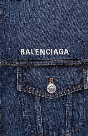 Мужская джинсовая куртка BALENCIAGA синего цвета, арт. 620728/TDW14 | Фото 5