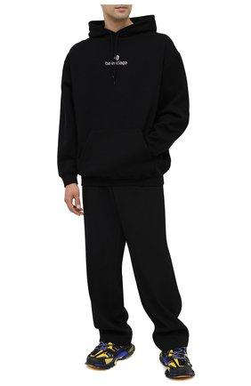 Мужской хлопковое худи BALENCIAGA черного цвета, арт. 570811/TJVE1 | Фото 2