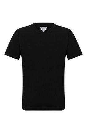 Мужская хлопковая футболка BOTTEGA VENETA черного цвета, арт. 639525/VF1U0 | Фото 1