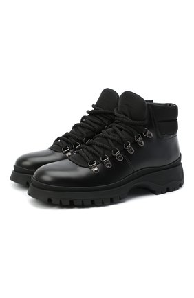 Женские кожаные ботинки PRADA черного цвета, арт. 1T588L-3L09-F0002-030 | Фото 1