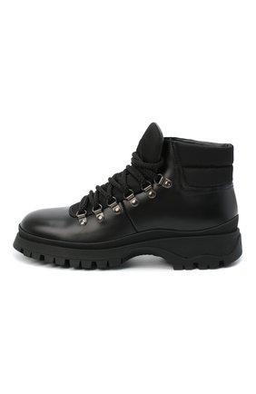 Женские кожаные ботинки PRADA черного цвета, арт. 1T588L-3L09-F0002-030 | Фото 2