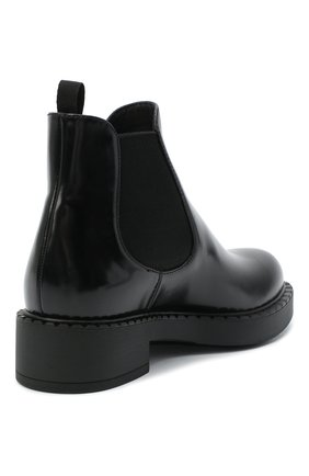 Женские кожаные ботинки PRADA черного цвета, арт. 1T251M-055-F0002-050 | Фото 3