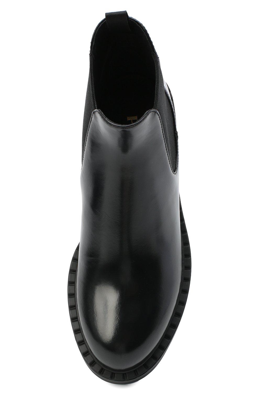 Женские кожаные ботинки PRADA черного цвета, арт. 1T251M-055-F0002-050 | Фото 4