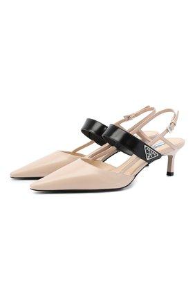 Женские кожаные туфли PRADA разноцветного цвета, арт. 1I322M-AZ3-F0G44-055 | Фото 1