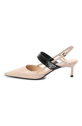 Женские кожаные туфли PRADA разноцветного цвета, арт. 1I322M-AZ3-F0G44-055 | Фото 2