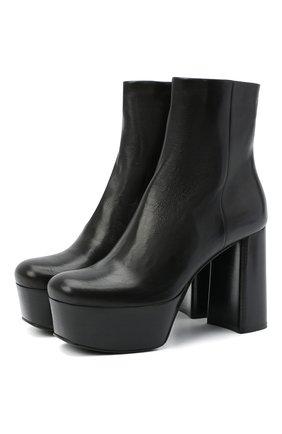 Женские кожаные ботильоны PRADA черного цвета, арт. 1TP259-3LBM-F0002-105 | Фото 1