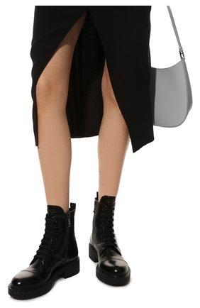 Женские кожаные ботинки PRADA черного цвета, арт. 1T360M-055-F0002-050 | Фото 3