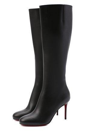 Женские кожаные сапоги fifi botta 85 CHRISTIAN LOUBOUTIN черного цвета, арт. fifi botta 85 calf   Фото 1