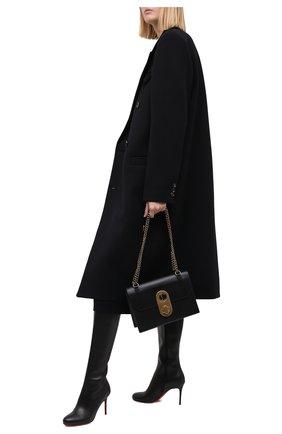 Женские кожаные сапоги fifi botta 85 CHRISTIAN LOUBOUTIN черного цвета, арт. fifi botta 85 calf   Фото 2
