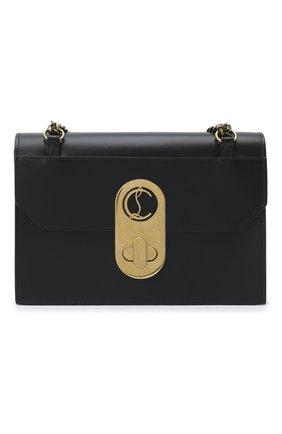 Женская сумка elisa large CHRISTIAN LOUBOUTIN черного цвета, арт. elisa large calf paris | Фото 1