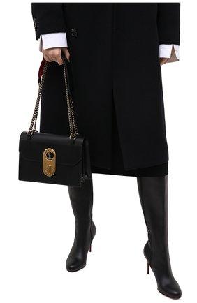 Женская сумка elisa large CHRISTIAN LOUBOUTIN черного цвета, арт. elisa large calf paris | Фото 2