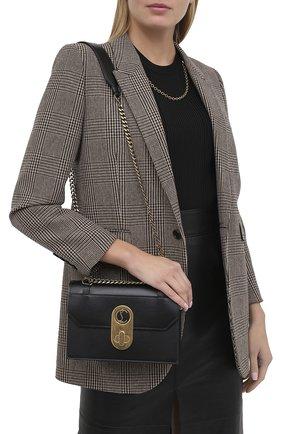 Женская сумка elisa small CHRISTIAN LOUBOUTIN черного цвета, арт. elisa small  calf paris   Фото 2