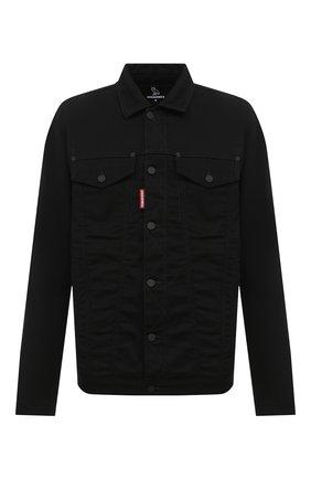 Мужская хлопковая куртка d2 x ovo DSQUARED2 черного цвета, арт. S74AM1120/S30564 | Фото 1