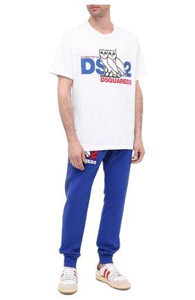 Мужская хлопковая футболка d2 x ovo DSQUARED2 белого цвета, арт. S74GD0765/S23009 | Фото 2