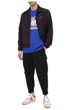 Мужская хлопковая футболка d2 x ovo DSQUARED2 синего цвета, арт. S74GD0765/S23009 | Фото 2