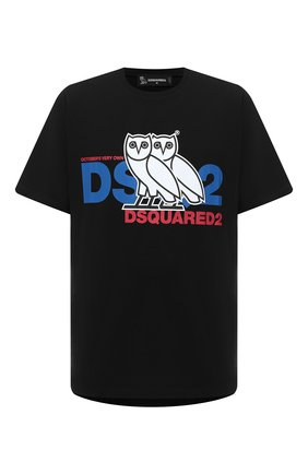 Мужская хлопковая футболка d2 x ovo DSQUARED2 черного цвета, арт. S74GD0765/S23009 | Фото 1