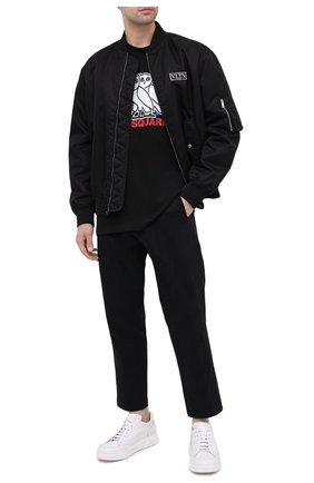 Мужская хлопковая футболка d2 x ovo DSQUARED2 черного цвета, арт. S74GD0765/S23009 | Фото 2