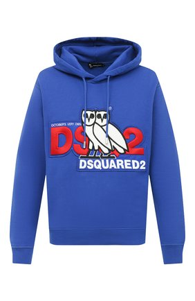 Мужской хлопковое худи d2 x ovo DSQUARED2 синего цвета, арт. S74GU0458/S25042 | Фото 1