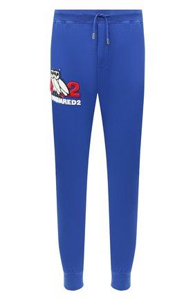 Мужской хлопковые джоггеры d2 x ovo DSQUARED2 синего цвета, арт. S74KB0479/S25042 | Фото 1