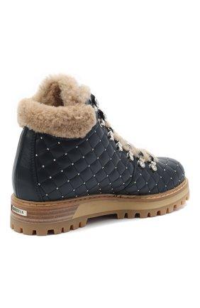 Женские кожаные ботинки LE SILLA темно-синего цвета, арт. 7514P040M1MMCHI | Фото 4
