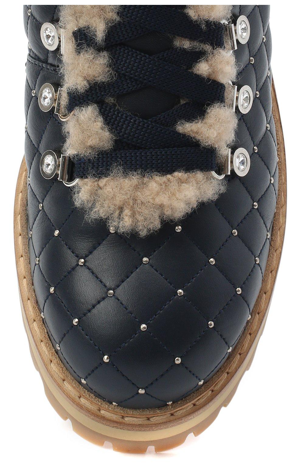 Женские кожаные ботинки LE SILLA темно-синего цвета, арт. 7514P040M1MMCHI | Фото 5