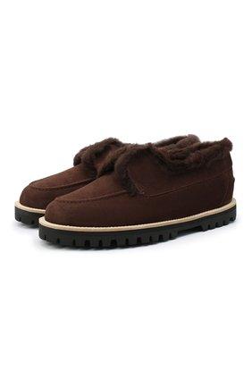 Женские замшевые ботинки LE SILLA темно-коричневого цвета, арт. 6183R020M1LLP0W | Фото 1