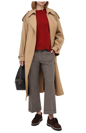 Женские замшевые ботинки LE SILLA темно-коричневого цвета, арт. 6183R020M1LLP0W | Фото 2