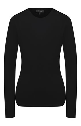 Женская хлопковый лонгслив THEORY черного цвета, арт. I1124511 | Фото 1