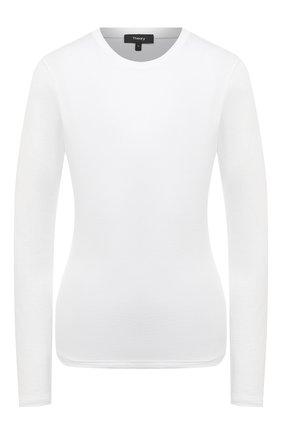 Женская хлопковый лонгслив THEORY белого цвета, арт. I1124511 | Фото 1