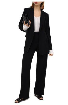 Женские брюки THEORY черного цвета, арт. K0509210 | Фото 2
