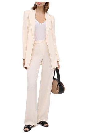Женские брюки THEORY белого цвета, арт. K0509210 | Фото 2