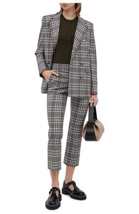 Женские шерстяные брюки THEORY серого цвета, арт. K0601209 | Фото 2
