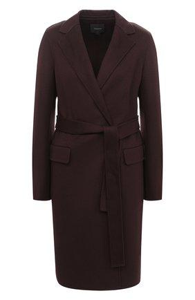 Женское пальто из шерсти и кашемира THEORY коричневого цвета, арт. K0601404   Фото 1