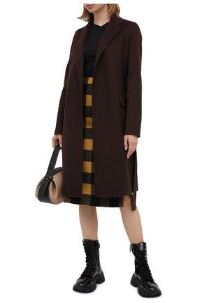 Женское пальто из шерсти и кашемира THEORY коричневого цвета, арт. K0601404   Фото 2