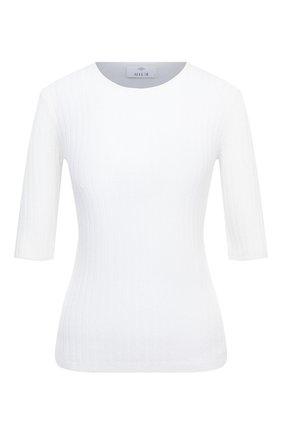 Женский кашемировый пуловер ALLUDE белого цвета, арт. 205/11135 | Фото 1 (Длина (для топов): Стандартные; Рукава: 3/4; Женское Кросс-КТ: Пуловер-одежда; Материал внешний: Шерсть, Кашемир)