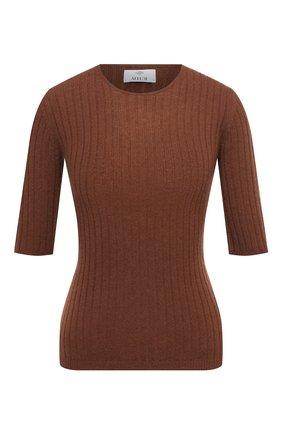 Женский кашемировый пуловер ALLUDE коричневого цвета, арт. 205/11135 | Фото 1 (Длина (для топов): Стандартные; Рукава: 3/4; Женское Кросс-КТ: Пуловер-одежда; Материал внешний: Шерсть, Кашемир)